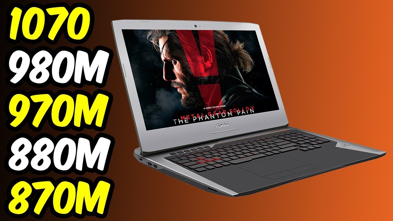 💥Nvidia GeForce GTX 1070 (Laptop) Vs GTX 980M Vs GTX 970M Vs GTX 880M Vs  GTX 870M 🔥Benchmarks! [4K]