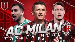 FIFA 19 AC MILAN CAREER MODE #1 - A NEW ERA BEGINS! +100 MILLLION TRANSFER BUDGET!