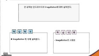 Android(안드로이드) Tutorials- 제21강 ImageButton