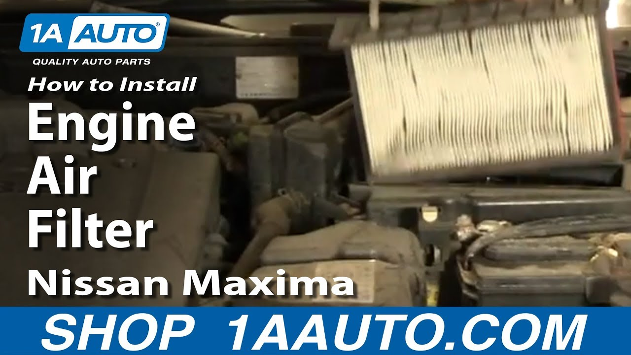 how to replace install engine air filter nissan maxima. Black Bedroom Furniture Sets. Home Design Ideas