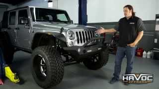 Havoc Offroad Wrecking Ball w/ lights front bumper install - HavocOffroad.com