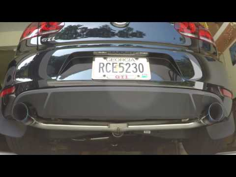2014 VW GOLF GTI MK6 With Armytrix Straight Pipe Valvetronic Exhaust System