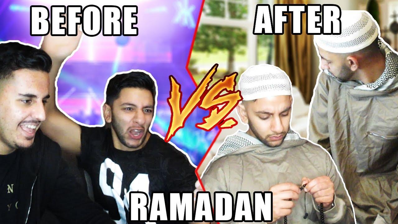 Before vs during ramadan