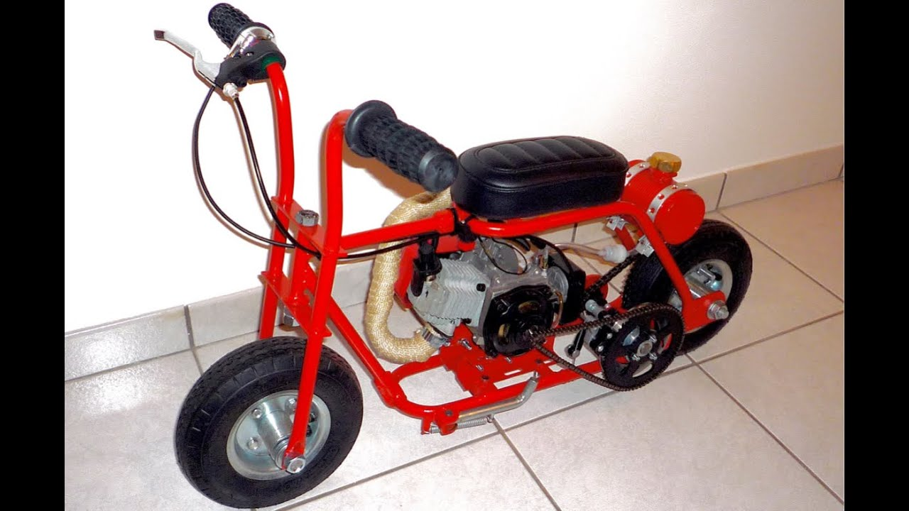 Wonderful Tom Thumb Micro Minibike Build   YouTube