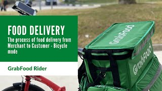 How does GrabFood Delivery process work?  From Merchant to Delivery Partner to Eater - Bicycle mode screenshot 3