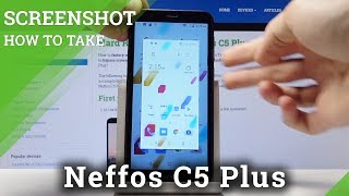 How to Take Screenshot in Neffos C5 Plus - Save / Grab Screen