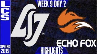 CLG vs FOX Highlights | LCS Spring 2019 Week 9 Day 2 | Counter Logic Gaming vs FlyQuest