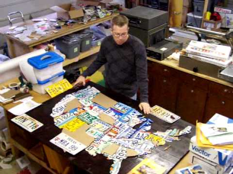USA License Plate Map - attaching the plates.MOV - YouTube