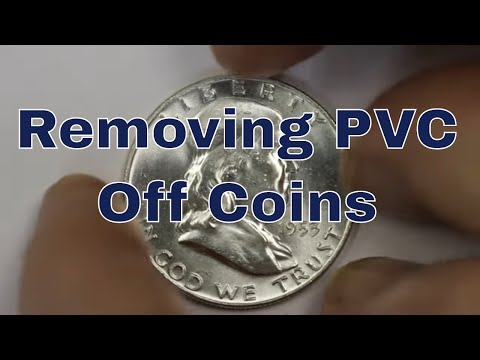 Cleaning, Restoring, Conserving Coins - How I Do It - Remove PVC From Coins