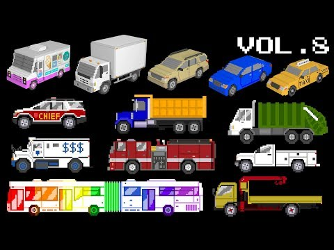 Vehicles Collection Volume 8 - Trucks, Buses, 3D Vehicles, Street Vehicles - The Kids' Picture Show