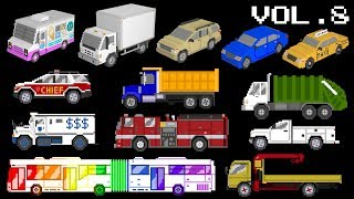 Vehicles Collection Volume 8 - Trucks, Buses, 3D Vehicles, Street Vehicles - The Kids