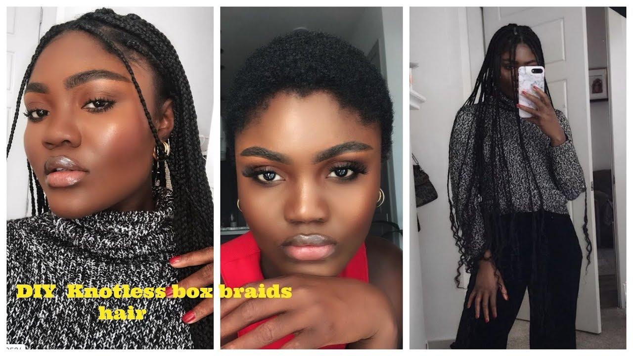 How To Diy Knotless Goddess Box Braids On Short 4c Hair