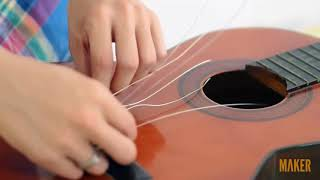 Maker.vn - Thay dây đàn guitar cổ điển - 2 - Tháo dây cũ và bảo dưỡng