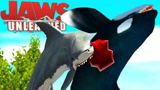 Jaws Unleashed - Tubarão Vs Orca, Tubarão Perigoso, Mar Aberto! | (#2) (PT-BR) Jogos De Tubarão