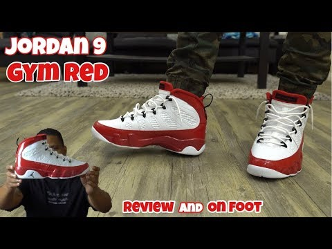 Jordan 9 Gym Red On Feet!!