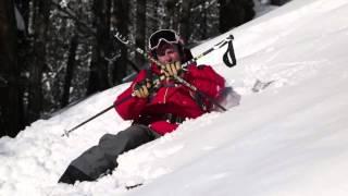 Урок 27 - Как встать в глубоком снегу на лыжах