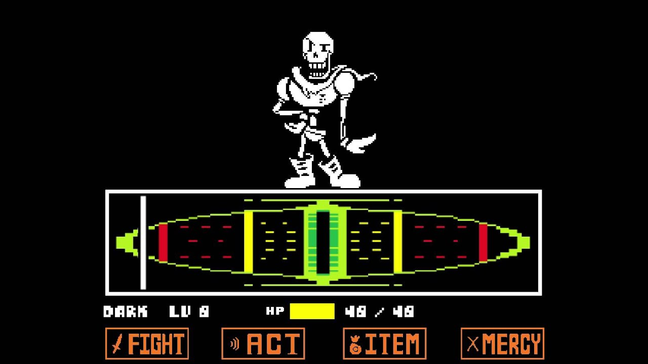 Papyrus Undertale Game