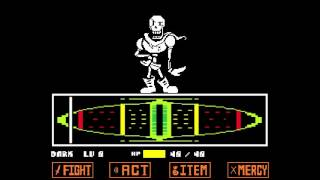 Undertale. Papyrus Fight, Genocide Run.