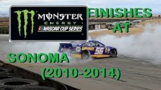 NASCAR Cup Series Finishes at Sonoma (2010-2014)