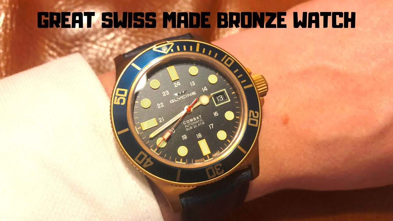 Crazy Value 400 Swiss Bronze Diver Glycine Combat Sub