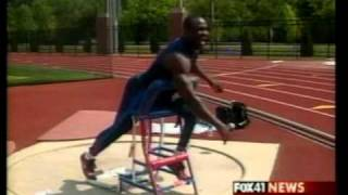 Dennis Ogbe Paralympian on Fox 41 News