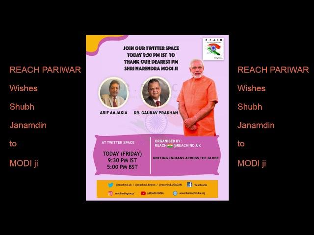 Twitter space on Modiji Birthday with Gaurav Pradhan ji & Arif Aajakia ji