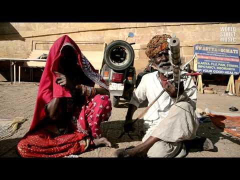 Indian Ravanahatha Street Musician