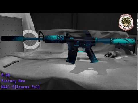 M4A1-S Icarus Fell - Skin Wear Preview