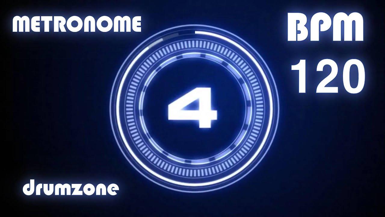 120 BPM - Metronome - Click & Voice ( 1 hour )