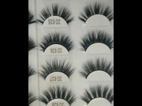 3D  MINK eyelashes customc packaging box,private label,100% mink fur lashes