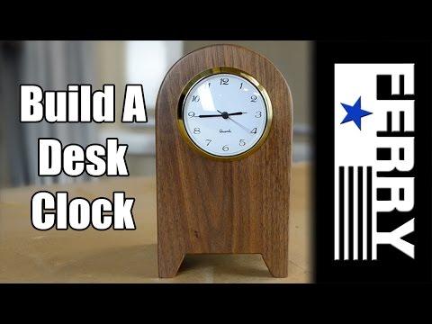 how to make a walnut desk clock ep15 youtube. Black Bedroom Furniture Sets. Home Design Ideas