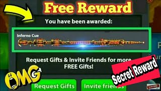 8 Ball Pool Secreat Reward Link Get Free [ Inferno Cue ] Limited Loot Offer 😉