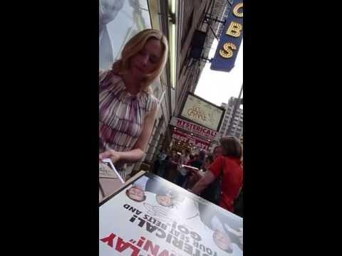 Hope Davis signing autographs at God of Carnage
