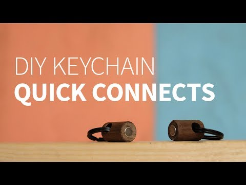 DIY wood keychain quick connects