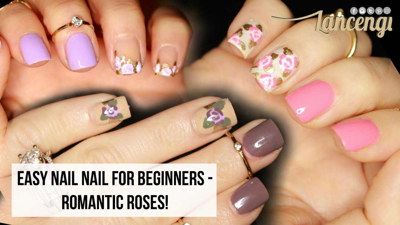 Diy Cute Easy Nail Art For Beginners Flowers No Tools Options