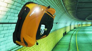IMPOSSIBLE TUNNEL WALLRIDE! (GTA 5 Funny Moments)
