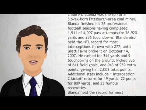 George Blanda - Wiki Videos