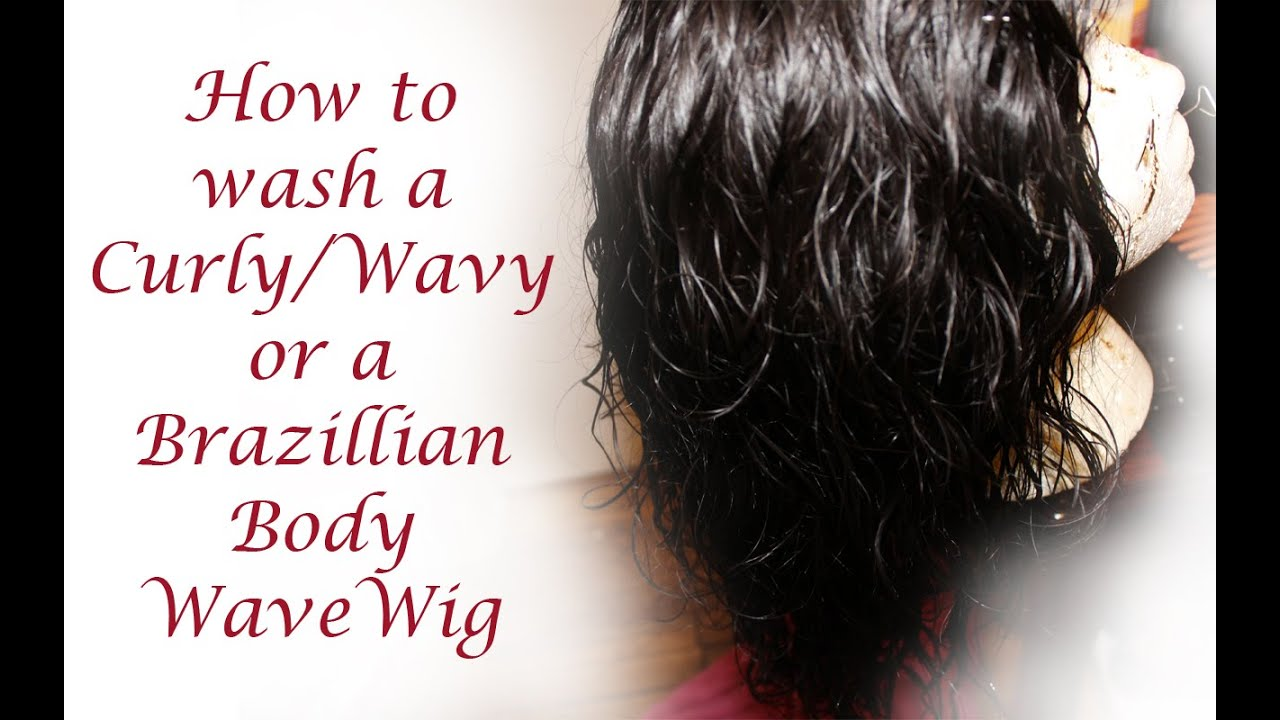 how to wash and style curly hair how to wash a curly wavy or wave wig or 3 4 7485
