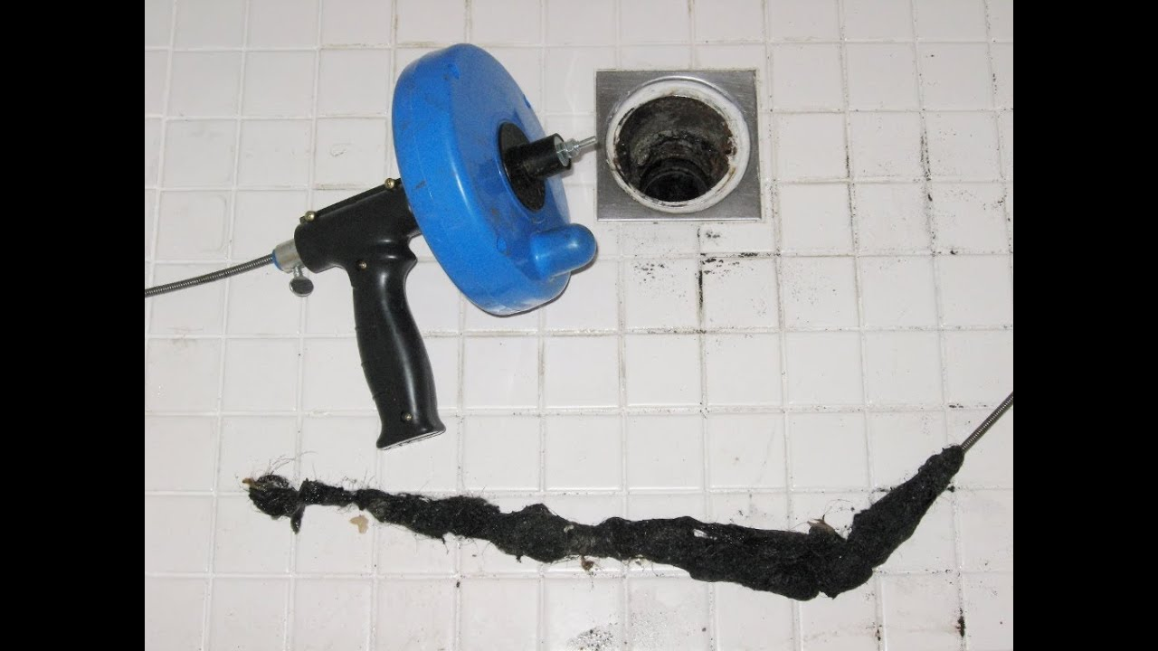Home maintenance clogged shower drain plumber auger by ...