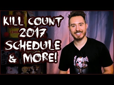 KILL COUNT SCHEDULE + much more! Dead Meat Announcement!