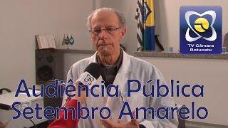 Audiência pública discute suicídio e formas de prevenção