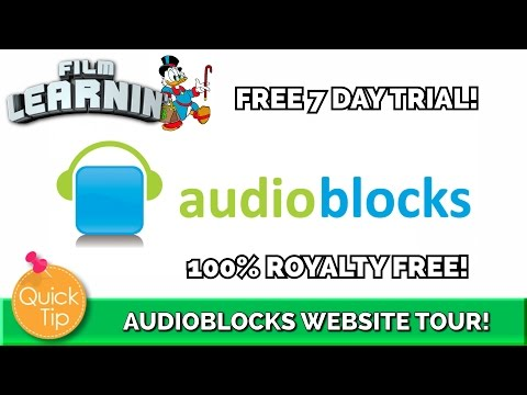 Audioblocks Royalty Free Sounds and Music! | Film Learnin