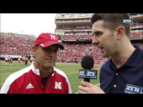 Coach Mike Riley Post-Game Interview - Nebraska Spring Football