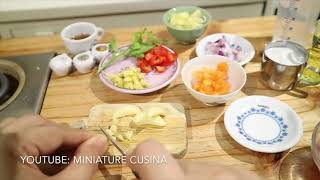 FRESH TUNA CURRY WITH COCONUT MILK (MINI FOOD) COOKING SOUND