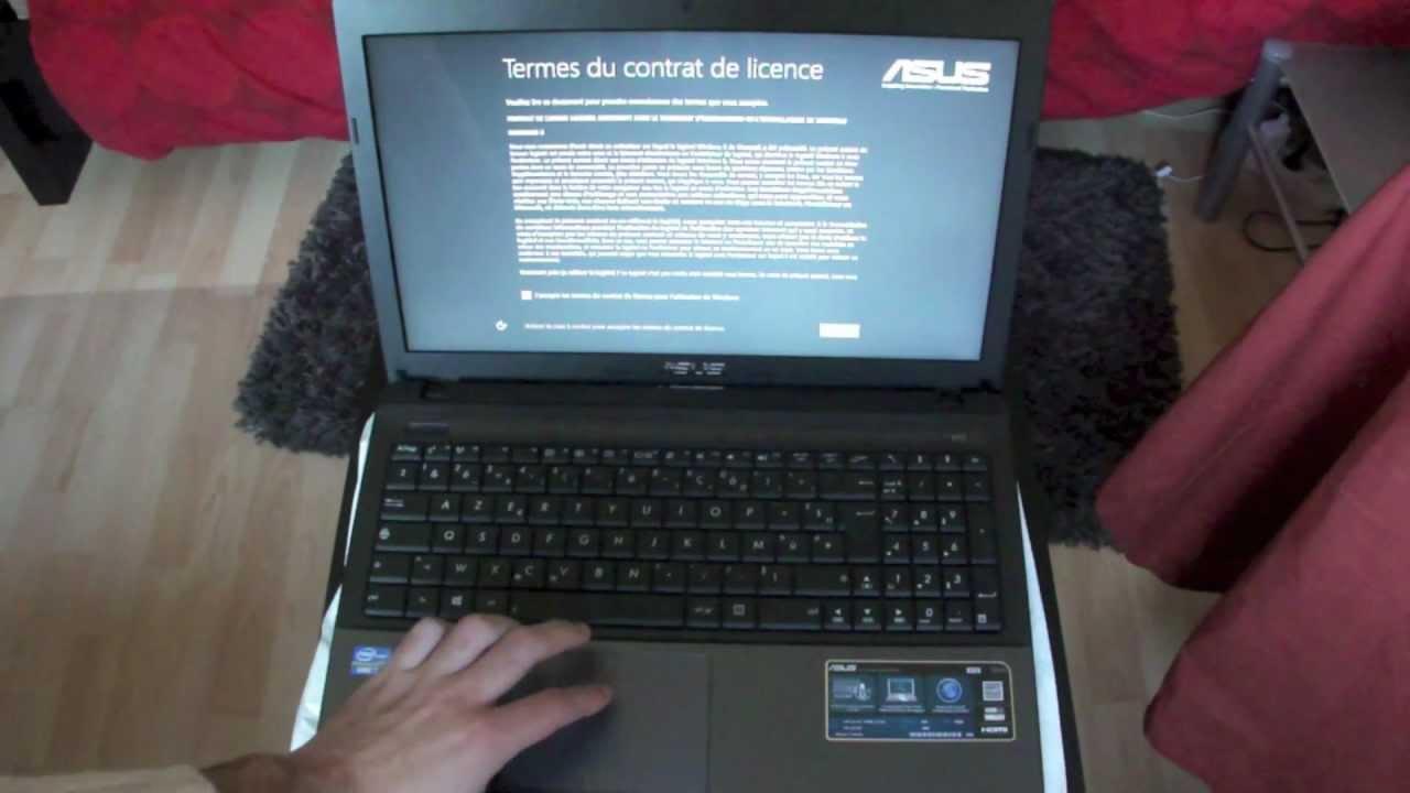 ordinateur portable asus windows 8 x55vd sx095h. Black Bedroom Furniture Sets. Home Design Ideas