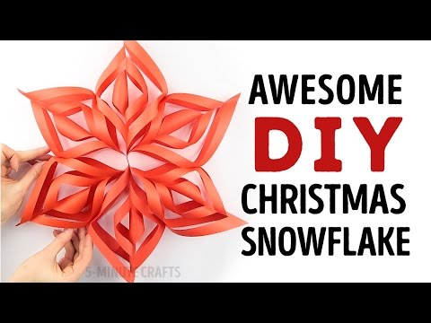 How To Craft A Really AWESOME Snowflake For Christmas L 5-MINUTE CRAFTS
