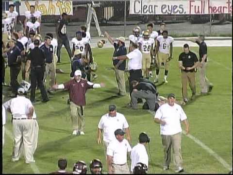 Dora High School vs Hamilton High School, Alabama, Football 2016, Coach slam.