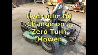 Hydraulic Oil and Filter Change on a Zero Turn Mower
