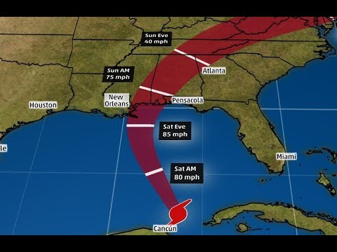 Nate Becomes a Hurricane, Heads for New Orleans - LIVE BREAKING NEWS COVERAGE