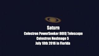 Saturn - July 18th 2016 Celestron NexImage 5 PowerSeeker 80EQ